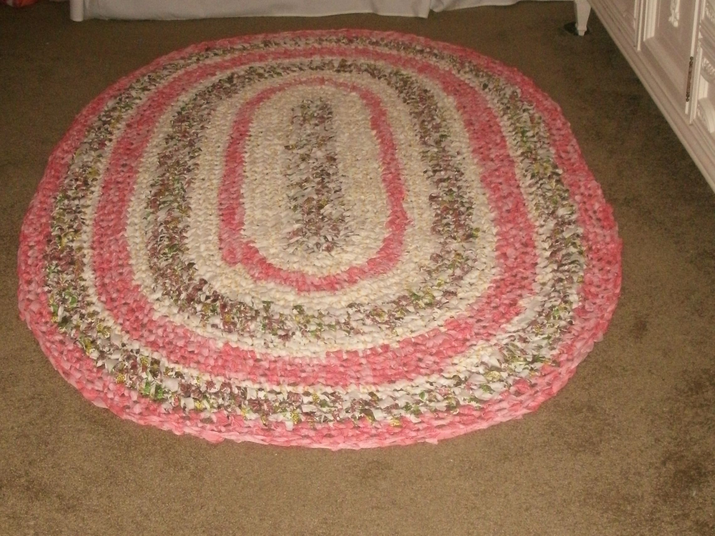 Finest X Area Rug Crochet From Long Strips Of Raw