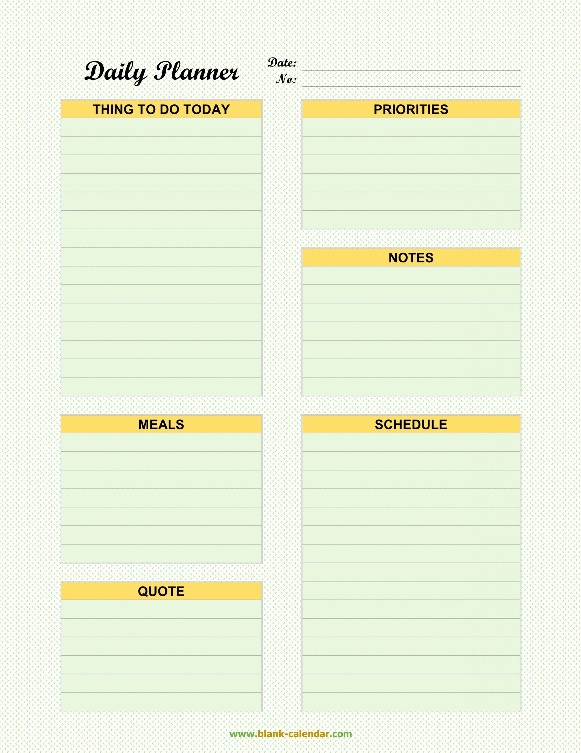 30 Daily Schedule Planner Template In