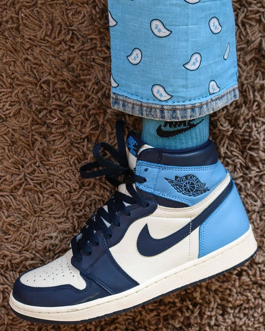 Air Jordan 1 Retro High Og Obsidian University Blue Nike Jordans Pin On Outfits