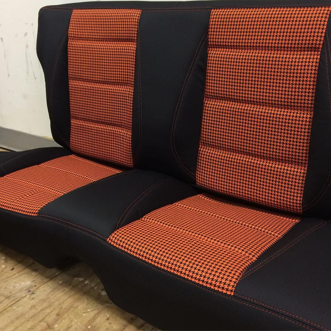 Miata Houndstooth Orange And Black Seats Interior