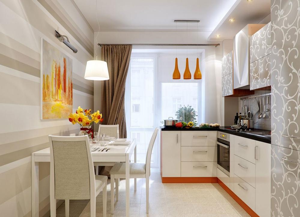 狭いダイニングキッチンのおしゃれなレイアウト 小さなキッチンデザイン キッチンインテリアデザイン ダイニングルームのデザイン