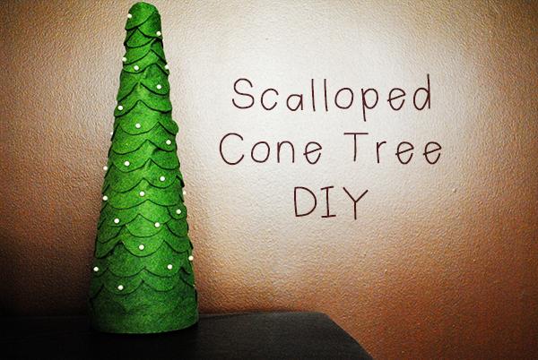 Scalloped Cone Tree DIY | Polka Dots are Love