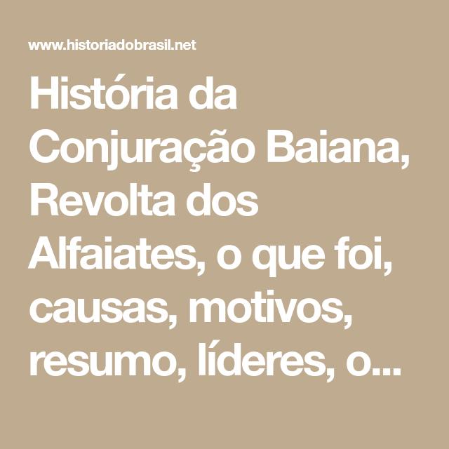 História Da Conjuração Baiana, Revolta Dos Alfaiates, O