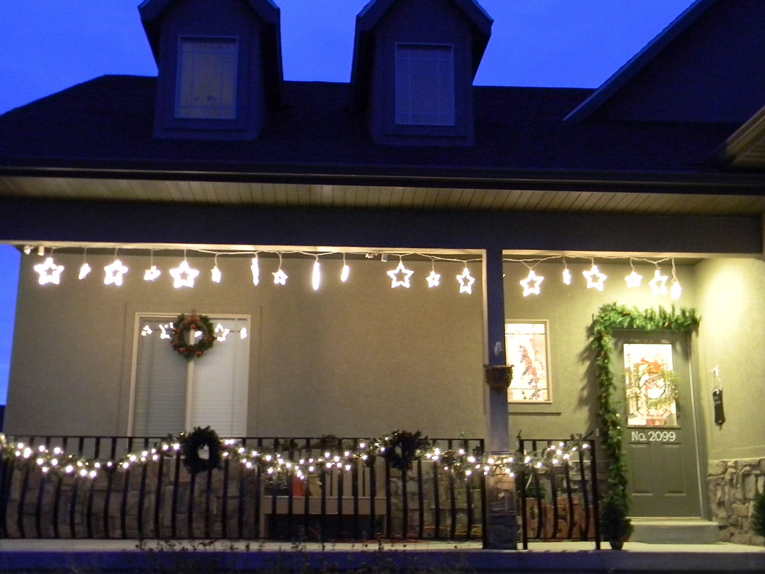 Porch Christmas Decorating Ideas sparkling christmas garland lights decoration ideas | interior