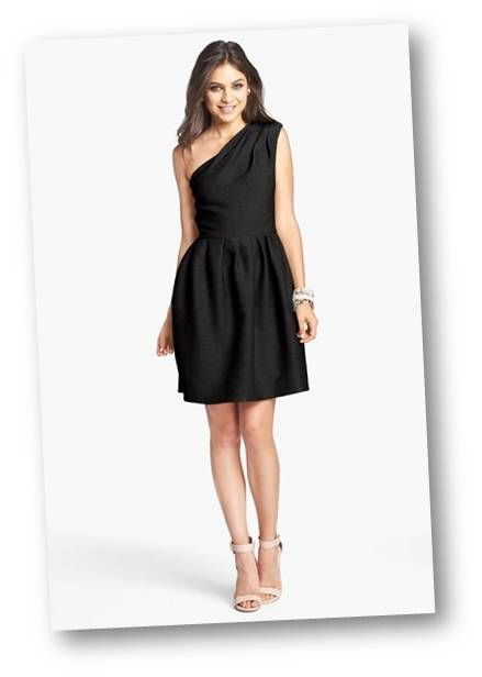Is It OK to Wear a Black Dress to a Wedding? | One shoulder ...