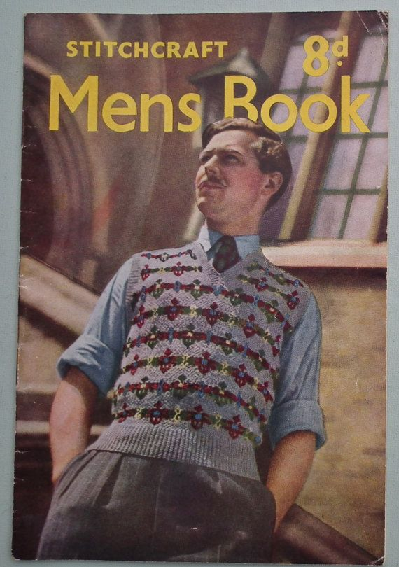 Vintage Knitting Patterns 1940s 1950s - Mens Book by Stitchcraft ...