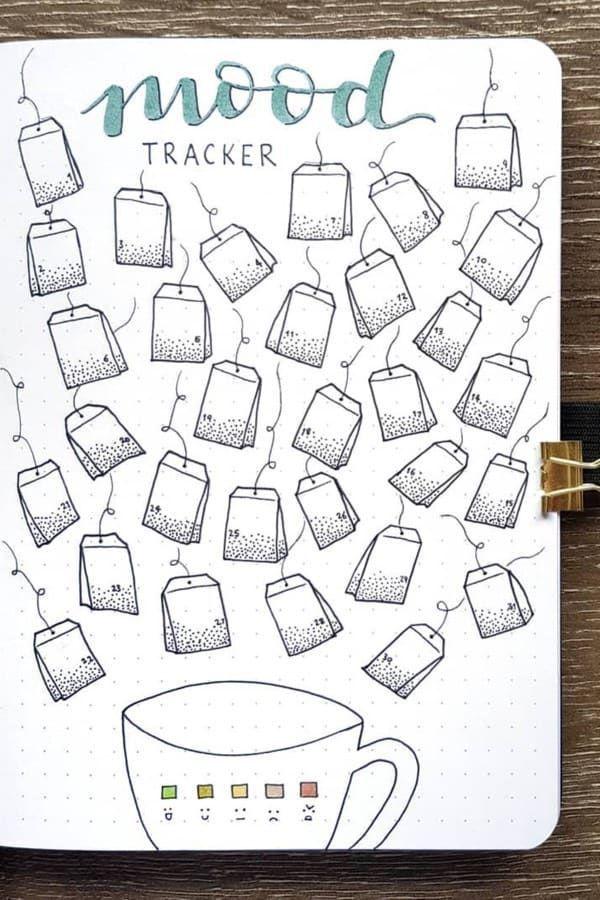30+ Best August Mood Tracker Ideas For Bullet Journals