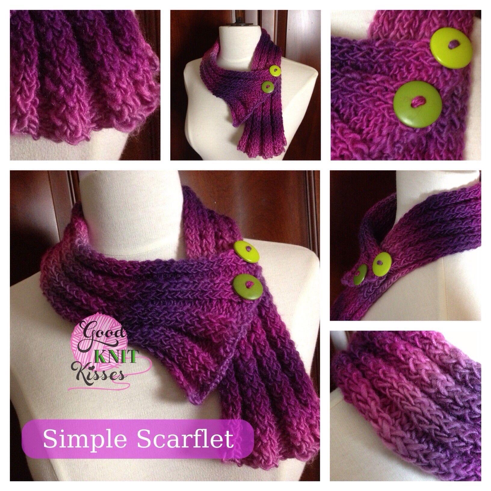 Simple Scarflet Neck Warmer pattern by Kristen Mangus | Tejido ...