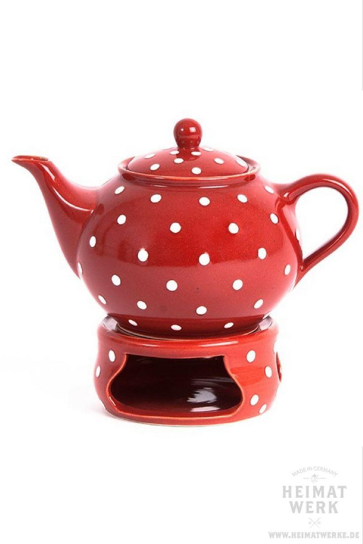 Romantisch-verspieltes Geschenk für SIE - Teekanne rot weiß - rot ...