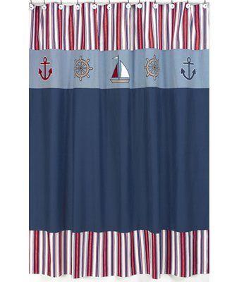 Sweet Jojo Designs Nautical Nights Shower Curtain