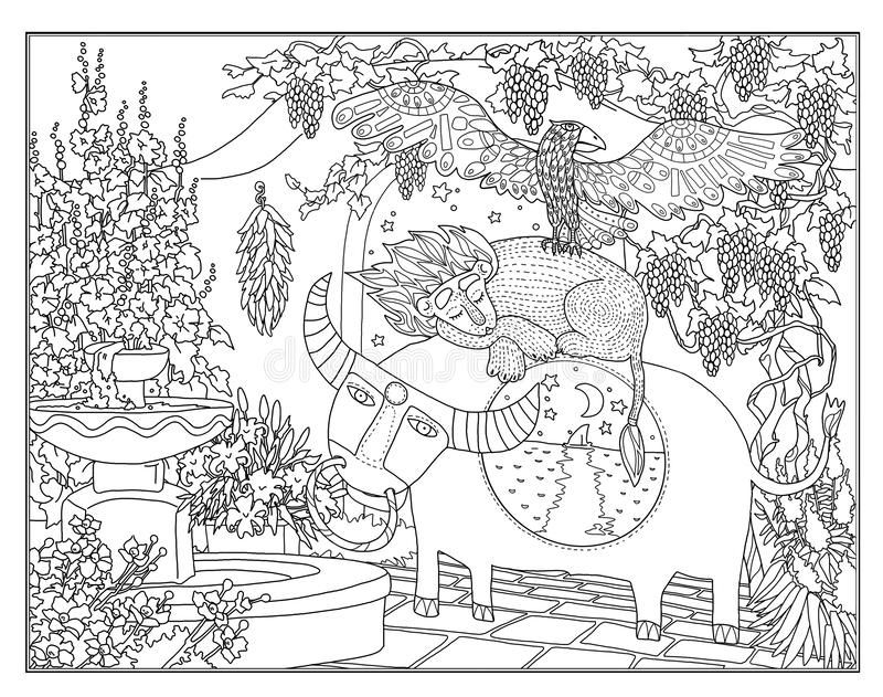 Coloring page The Secret Garden stock illustration in 2020 ...