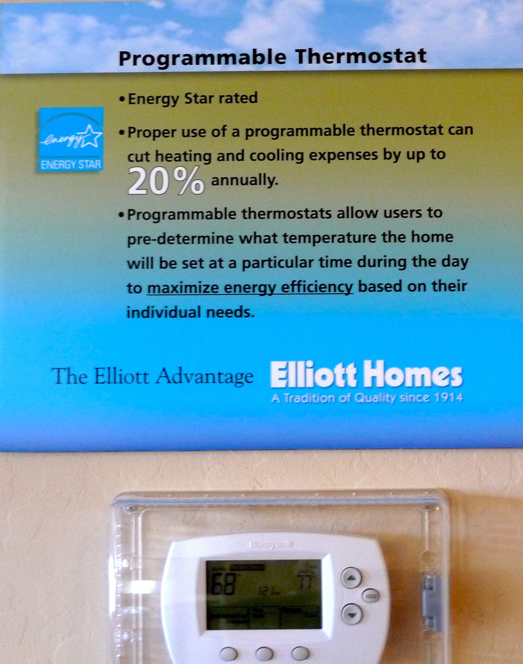 Programmable Thermostat At Elliott Homes Riverwalk Estates