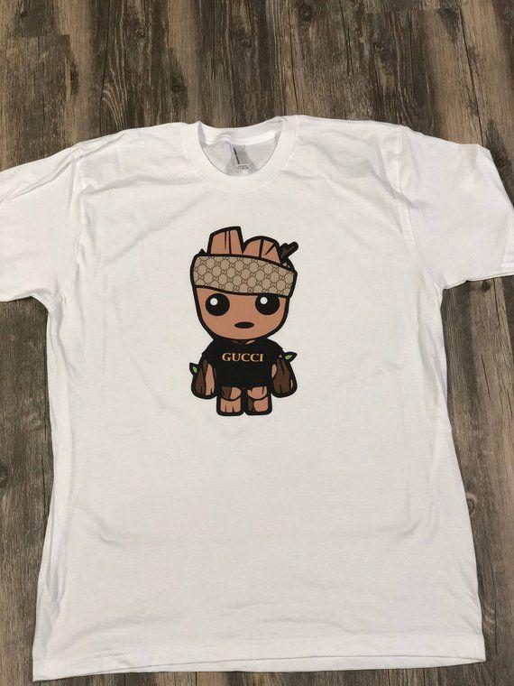 c8f52887927a Baby Groot Gucci Shirt / Baby Groot Gucci Monogram Tee / Baby Groot T-Shirt
