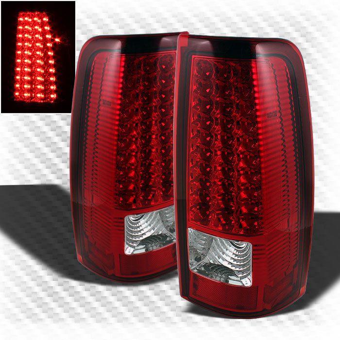 For 99 02 Chevy Silverado 99 03 Gmc Sierra Led Red Clear Tail Lights Lamp Pair Gmc Trucks Gmc Trucks
