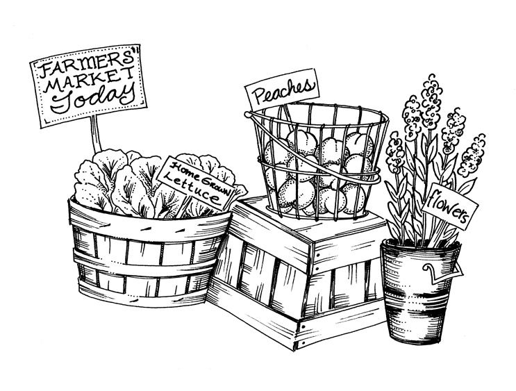 Tips For Shopping The Farmers Market Coloring Pages