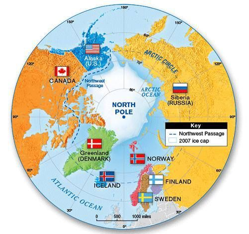 Arctic Security Changing Paradigms For The 21st Century Part One Arctic Circle Map Arctic Ocean