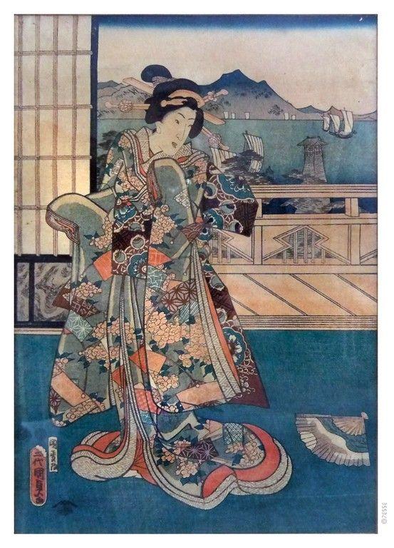 Japanese Ukiyo-e Print  #geisha