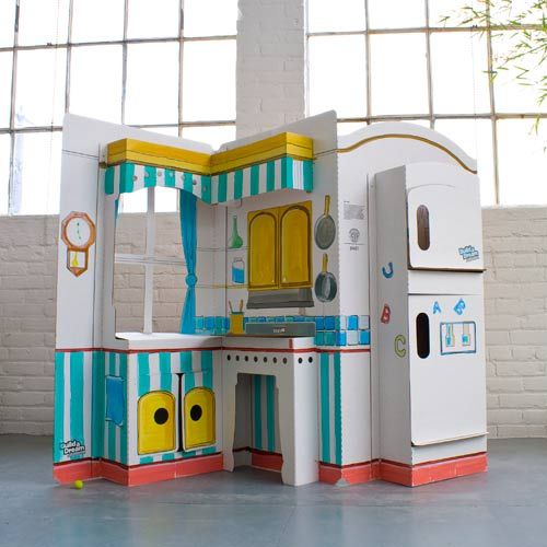 Dream Kitchen Reviews: Build A Dream Playhouse Cardboard Toys: Pop N Play Kitchen