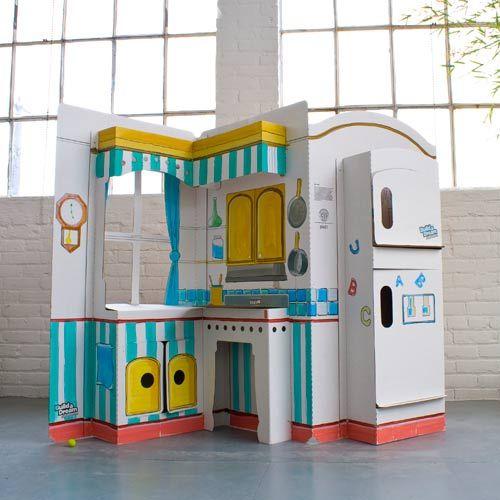 Build a Dream Playhouse Cardboard Toys: Pop N Play Kitchen ...
