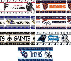 Nfl Wallpaper Border For Wall Nfl Sports Logo Self Stick Wall Borders Football Peel And Stick Wall Wallpaper Border Wall Borders Wallpaper