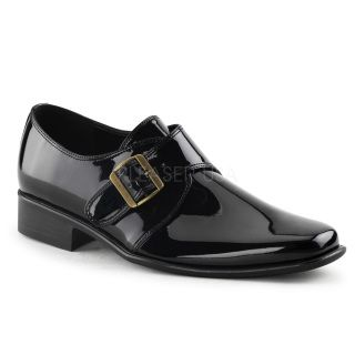 Slip-on buckle over shoes in Black Patent, Brown, Black, White Patent and White.    Available in sizes Small (8-9), Medium (10-11), Large (12-13) and Extra Large (14).