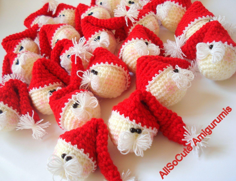 Christmas tree ornament crochet pattern amigurumi santa