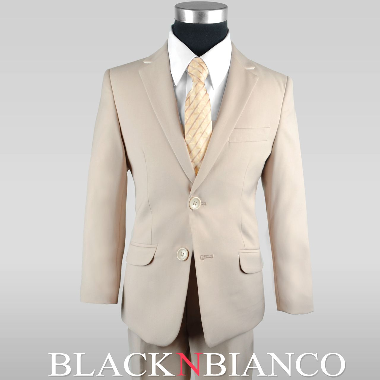 7e19cda5d Boys' Signature Slim Fit Suit In Khaki Tan in 2019   Boys Tuxedos ...