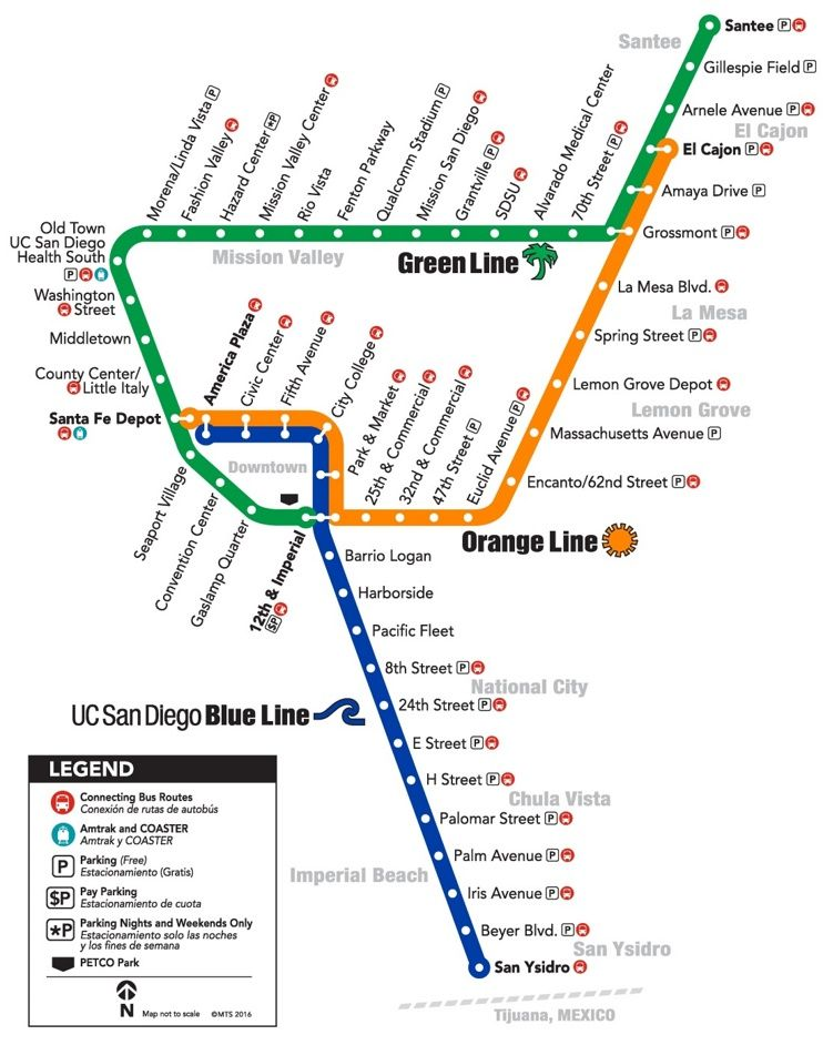 Sd trolley map