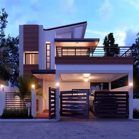Pin By 샄티 Sakthi On Cerramiento Moderno Duplex House Design Small House Design 2 Storey House Design