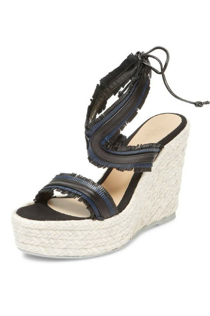 28a001fa4db8 Manebi Women s Wedge Leather Sandal