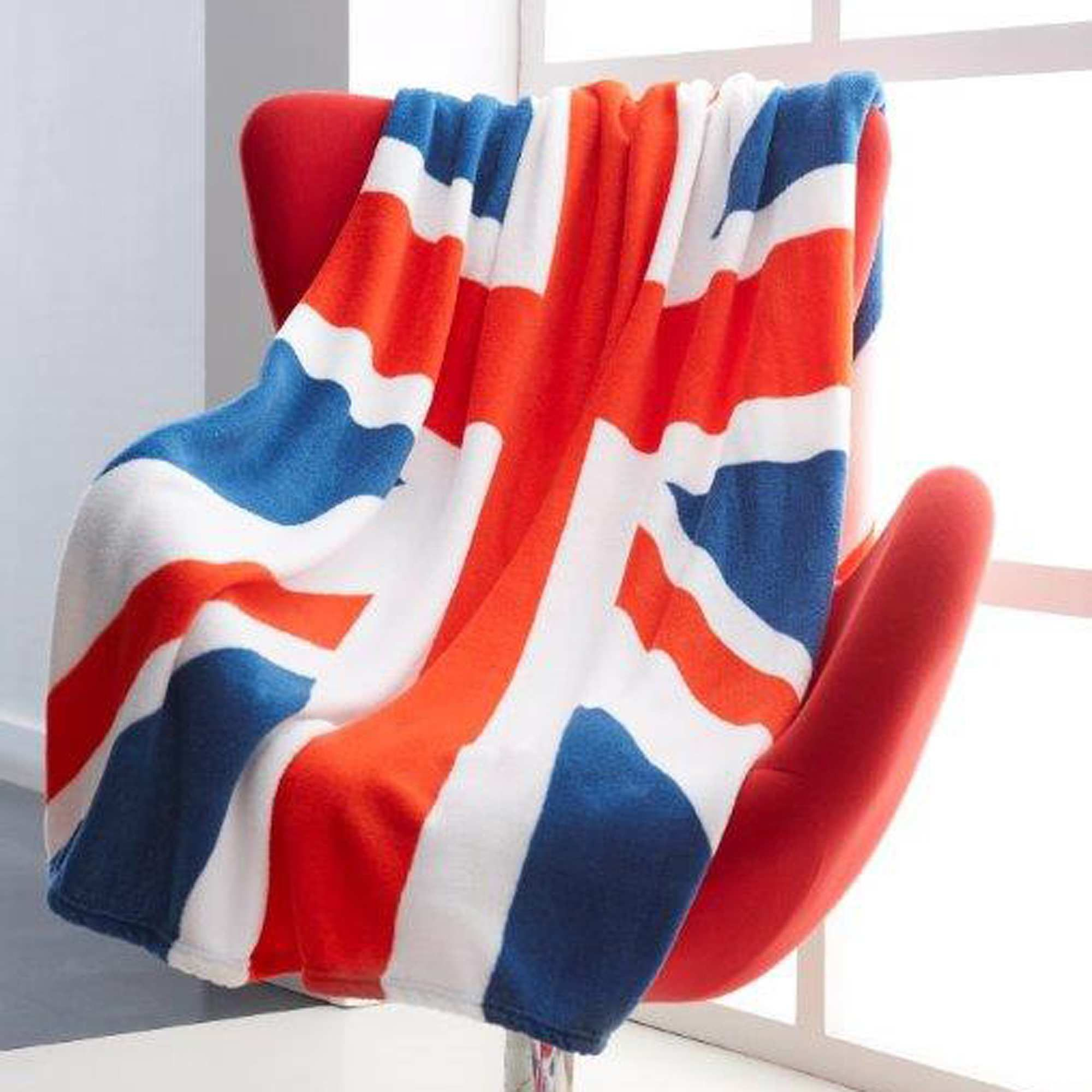 linge de lit union jack Plaid polaire imprimée uk bleu/blanc/rouge Linge de lit | HoMe  linge de lit union jack