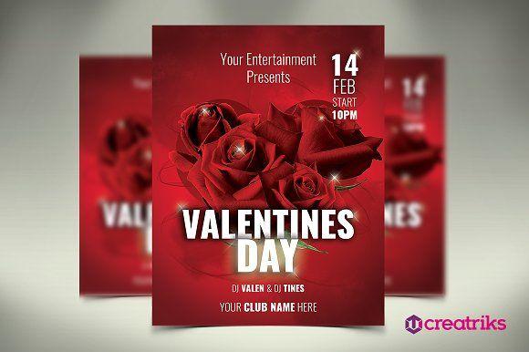 Valentines Day Flyer By Creatricks On Creativemarket Flyer