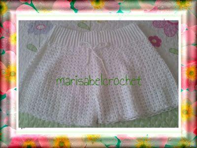 Marisabel crochet:  Estos shorts los he tejido en 3 tallas y en algod...