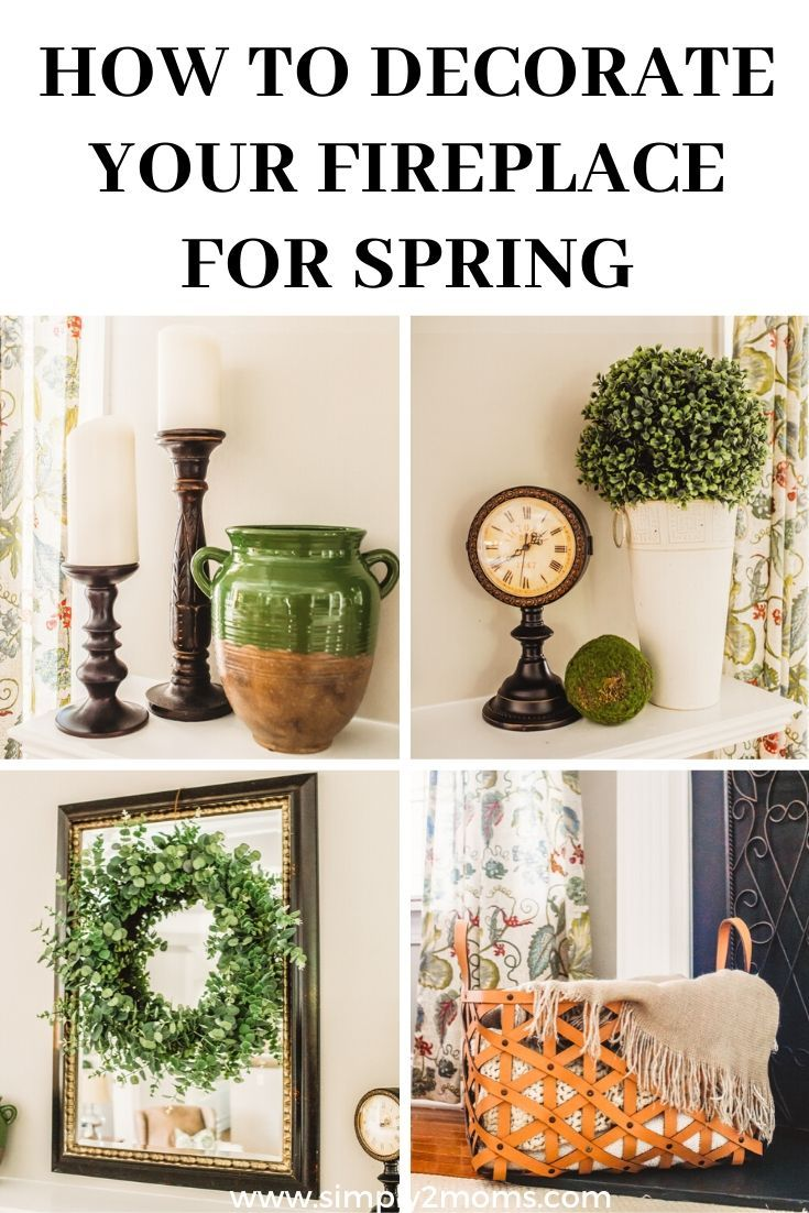 Summer & Spring Fireplace Decor | Simple Styling Tips