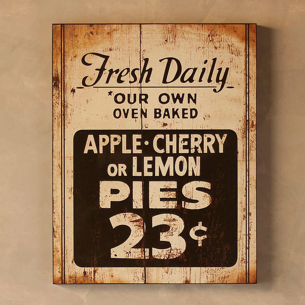 Pin By Bernice On All Things Kitchen Kitchen Signs Antique Signs Signs
