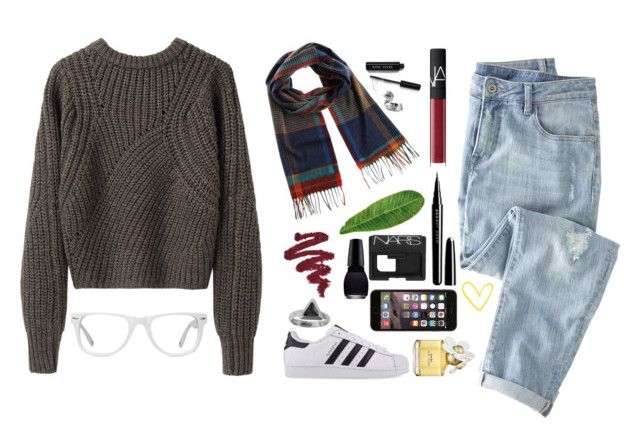 """""""Somebody come get her"""" by mrs-nick-robinson ❤ liked on Polyvore featuring Isabel Marant, Jil Sander, NARS Cosmetics, Bobbi Brown Cosmetics, Abyss & Habidecor, Marc Jacobs, adidas Originals, Wrap, Zoemou and Muse"""