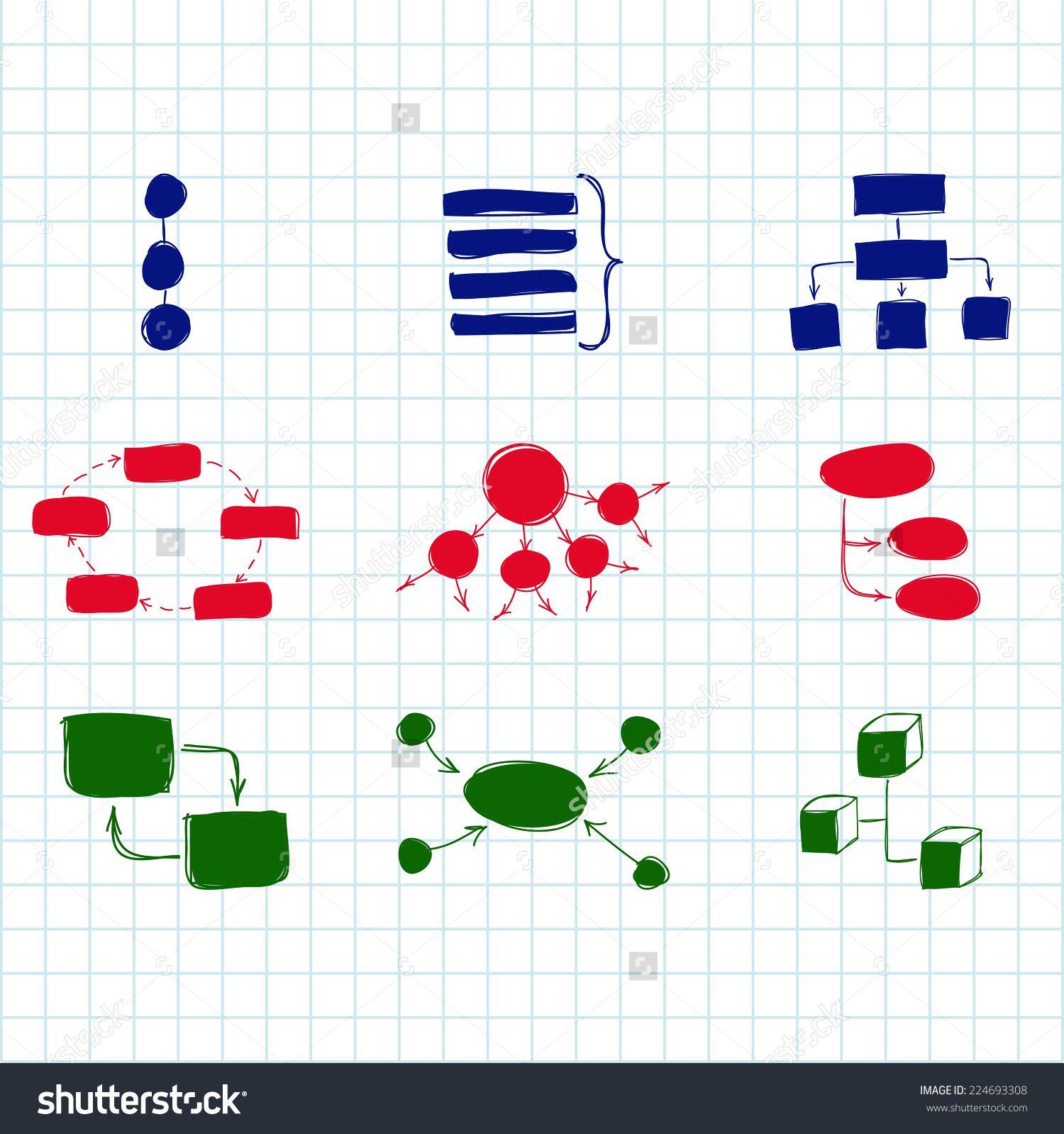 Hand drawn doodle sketch mind map blank flow chart space for text hand drawn doodle sketch mind map blank flow chart space for text concept business nvjuhfo Images