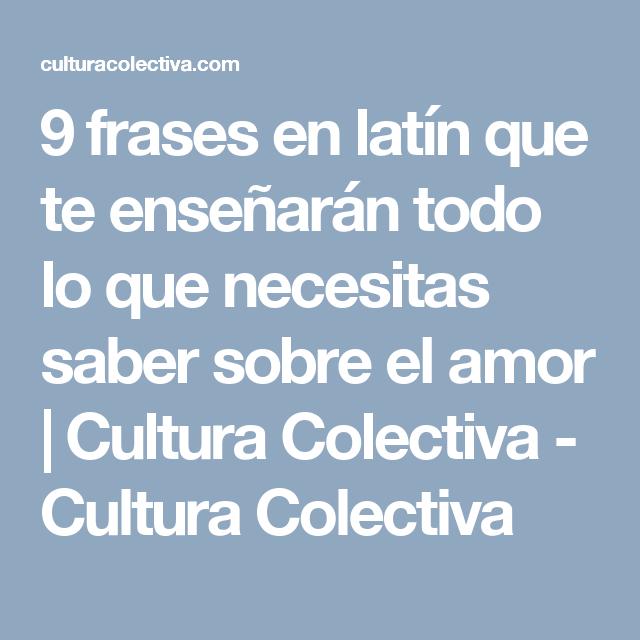 9 Frases En Latin Que Te Ensenaran Todo Lo Que Necesitas Saber Sobre