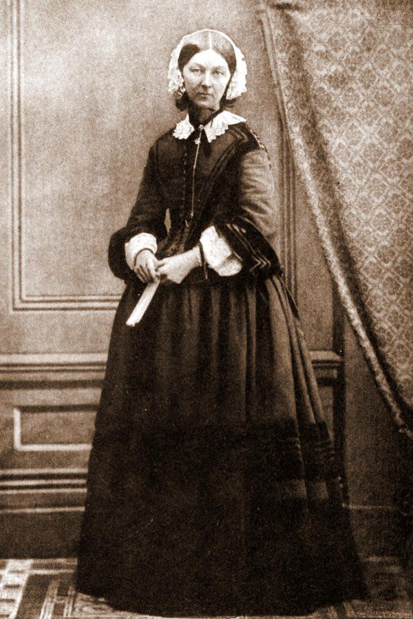 Florence Nightingale, Also Known As The Lady With The Lamp, Circa 1858.