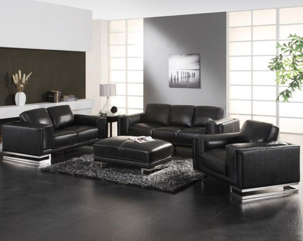 Living Room Cute Leather Couch Mixed With Silver Arch Lamp White Floating Shelf And Marble F Black Sofa Living Room Leather Sofa Living Room Black Living Room