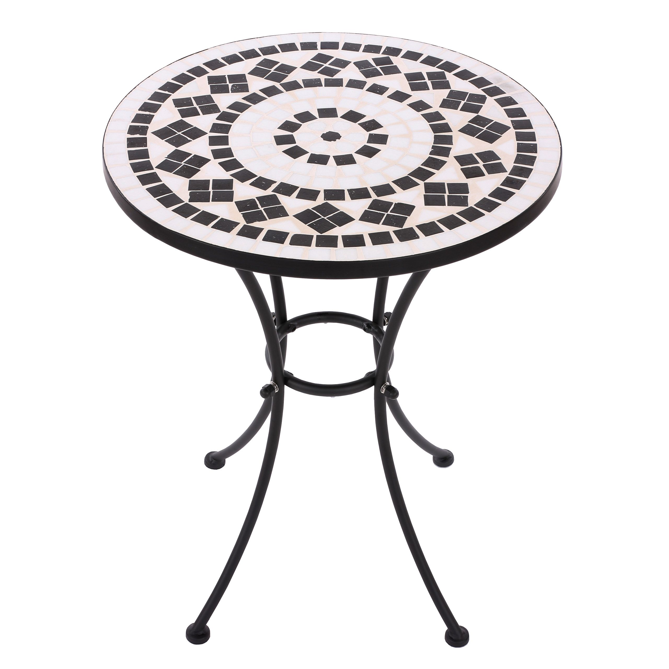 details zu mosaiktisch gartentisch bistrotisch. Black Bedroom Furniture Sets. Home Design Ideas