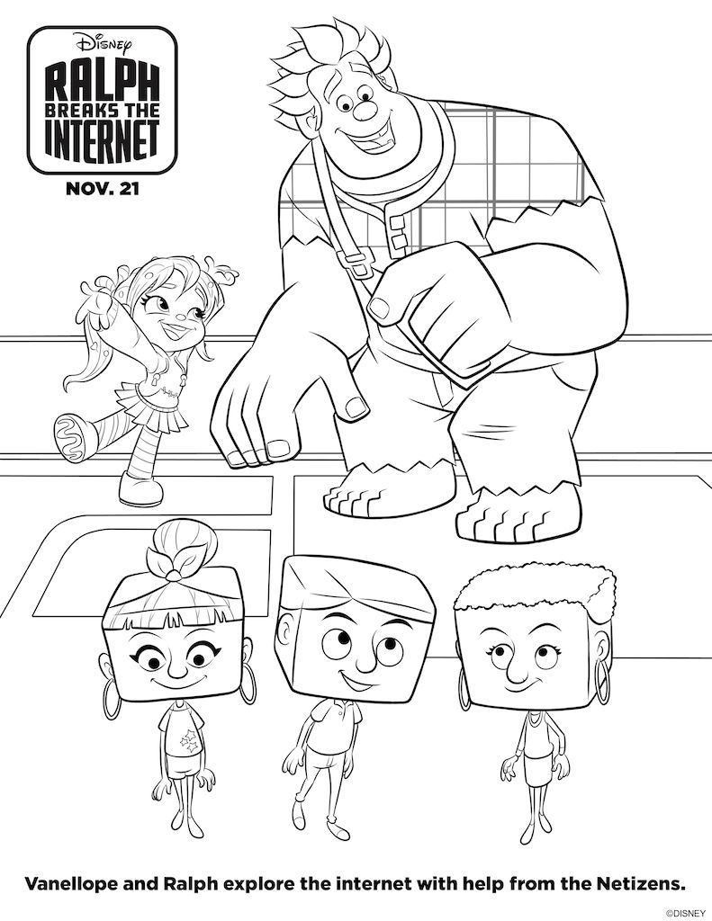 Ralph Breaks The Internet Free Printable Activity Sheets Disney Coloring Pages Coloring Pages Wreck It Ralph [ 1024 x 791 Pixel ]