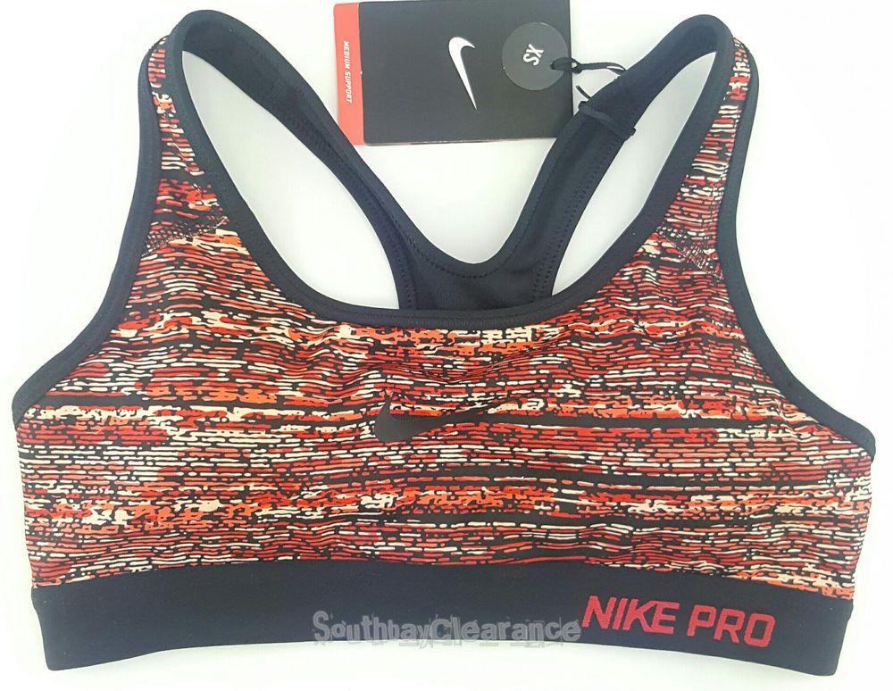 NWT Nike Womens Pro Classic Static Padded Sports Bra Size
