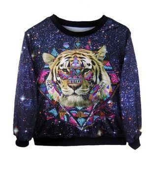 15 euro incl. shipping   Aliexpress.com : Buy New!Freeshipping 2013 Fashion Women/Men Space print skull Galaxy hoodies sweaters Pullovers virgin Funny 3D Sweatshirt ...