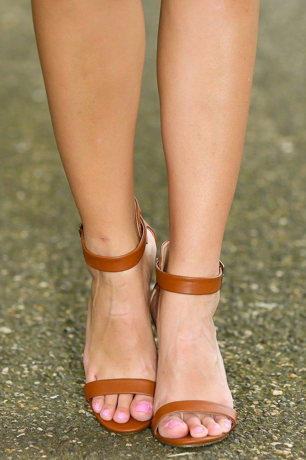 Meant To Be Heels-Cognac - All Shoes