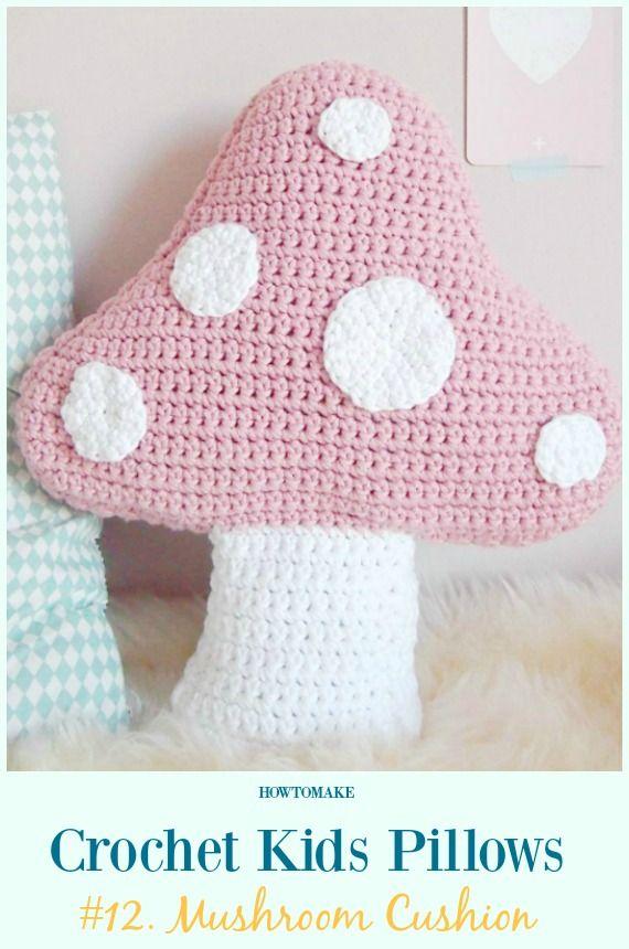 Fun Crochet Kids Pillows Free Patterns | Ganchillo, Patrones ...