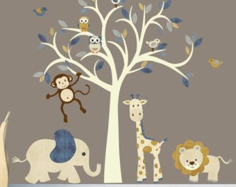 Safari Wall Decal Nursery Jungle By Stickitdecaldesigns