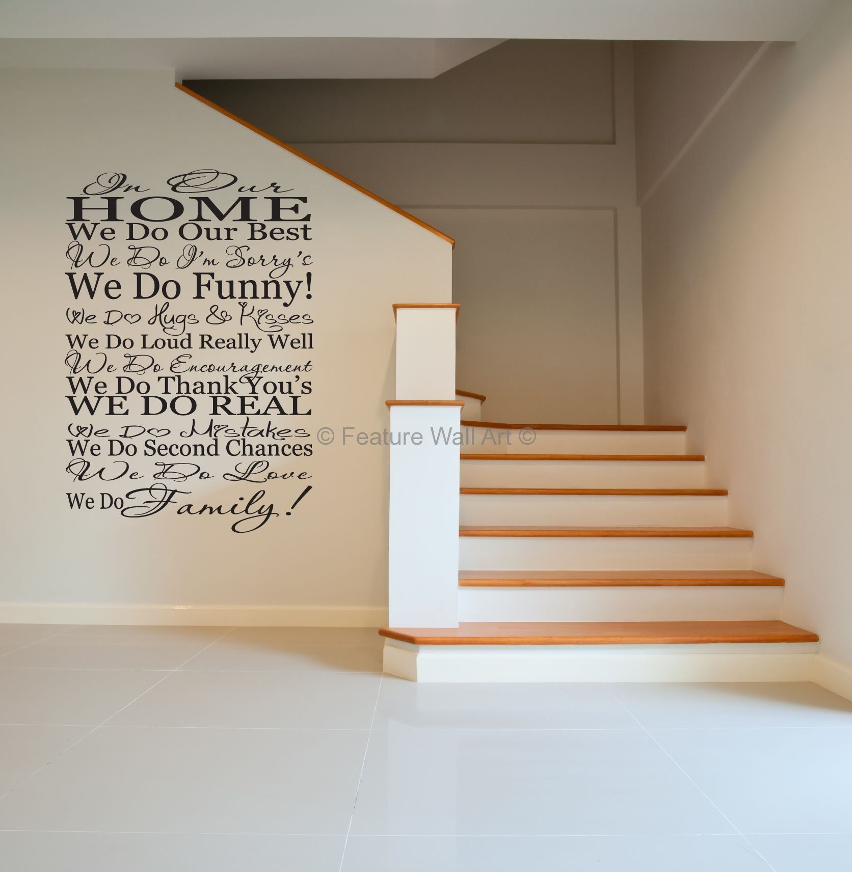 Wall Art Stickers Dunelm : Family quotes wall decals we do vinyl art