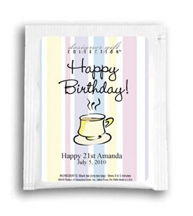 Stripes Mug Birthday Party Tea Bags