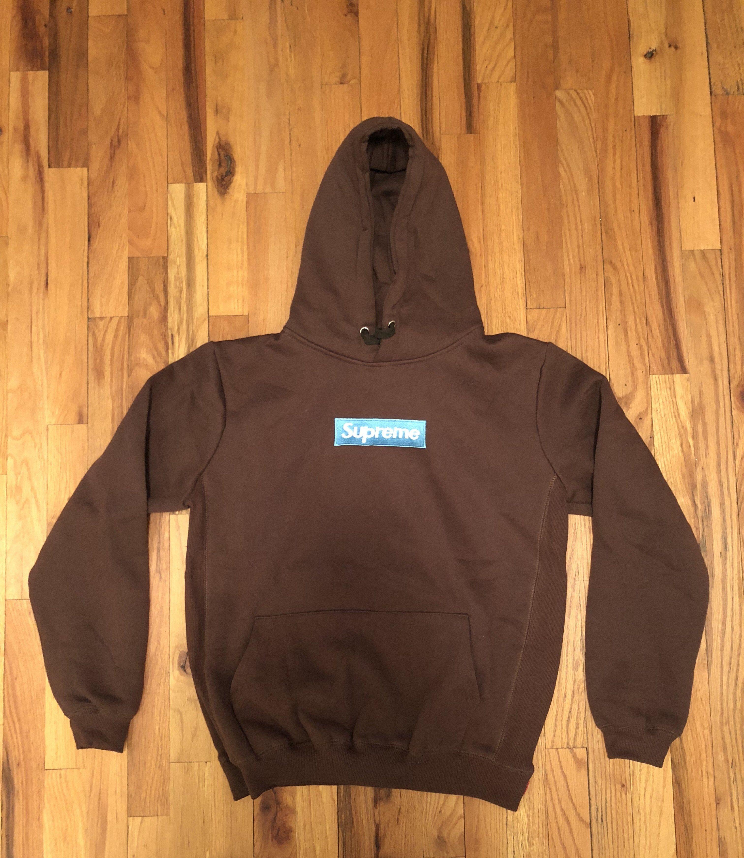 Supreme Brown Rust Box Logo Hooded Sweatshirt | Hooded